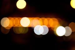 Luzes borradas Fotos de Stock Royalty Free