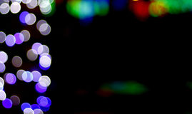 Luzes borradas coloridas Foto de Stock
