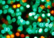 Luzes borradas coloridas Foto de Stock Royalty Free