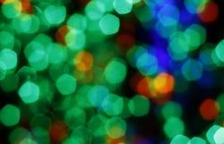 Luzes borradas coloridas Fotografia de Stock Royalty Free