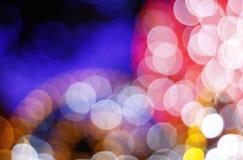 Luzes borradas coloridas Imagens de Stock Royalty Free