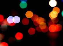Luzes borradas coloridas Fotografia de Stock