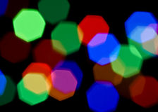 Luzes borradas coloridas brilhantes fotos de stock royalty free