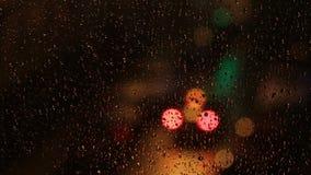 Luzes borradas coloridas na noite video estoque