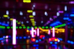 Luzes borradas de um Funfair imagem de stock royalty free