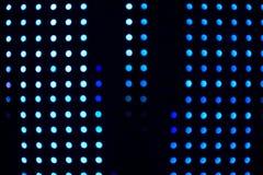 Luzes borradas do bulbo do diodo emissor de luz Fotografia de Stock Royalty Free