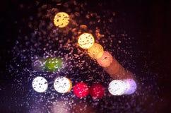 Luzes borradas do trânsito intenso Fotos de Stock