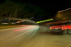 Luzes borradas do veículo imagens de stock