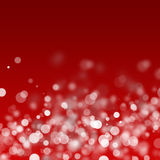 Luzes brancas do Natal Foto de Stock