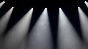 Luzes brancas do ponto na fase Fotografia de Stock Royalty Free