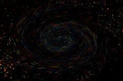 Luzes brilhantes coloridas em um fundo preto imagens de stock royalty free
