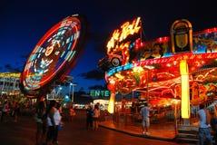 Luzes brilhantes do cais do casino fotografia de stock