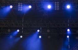 Luzes brilhantes do ponto do diodo emissor de luz Imagens de Stock