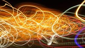 Luzes caóticas no borrão do moriol Imagem de Stock
