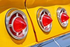 Luzes clássicas do carro fotos de stock royalty free