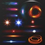 Luzes coloridas ajustadas Imagens de Stock Royalty Free