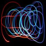 Luzes coloridas caóticas Fotos de Stock Royalty Free