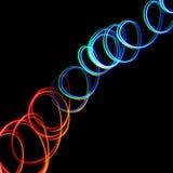 Luzes coloridas caóticas Foto de Stock