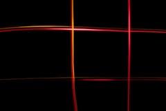 Luzes coloridas caóticas Fotografia de Stock