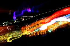 Luzes coloridas caóticas Fotos de Stock