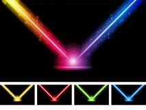 Luzes coloridas de néon do laser ilustração stock