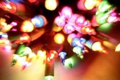luzes coloridas do Natal Fotos de Stock