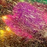 Luzes coloridas do teste padrão no vidro de janela congelado Fotos de Stock