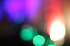 Luzes coloridas obscuras 3 Foto de Stock