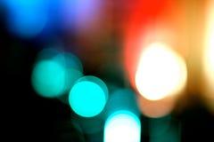 Luzes coloridas obscuras Fotos de Stock
