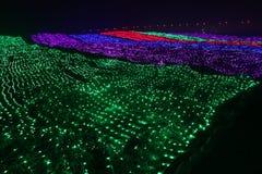 Luzes coloridas a queda do arco-íris Foto de Stock