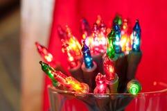 Luzes coloridos de piscamento Fotografia de Stock Royalty Free