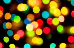 Luzes coloridos do feriado foto de stock