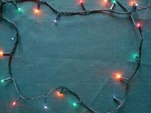 Luzes comemorativos em um quadrado, vista superior Imagens de Stock Royalty Free
