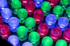 Luzes conduzidas Fotos de Stock Royalty Free