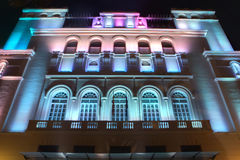 Luzes conduzidas de construção Fotografia de Stock