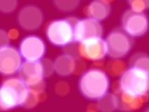 Luzes cor-de-rosa Foto de Stock Royalty Free