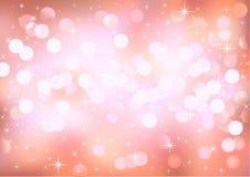 Luzes cor-de-rosa de brilho do fundo Fotografia de Stock Royalty Free