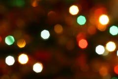 Luzes da árvore de Natal Imagem de Stock Royalty Free