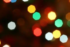 Luzes da árvore de Natal Fotos de Stock Royalty Free