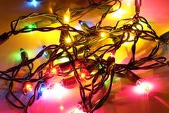 Luzes da árvore de Natal Fotografia de Stock Royalty Free