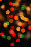 Luzes da árvore de Natal Imagens de Stock