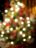 Luzes da árvore de Natal Fotografia de Stock