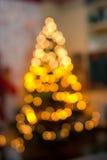 Luzes da árvore de Natal Foto de Stock