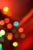 Luzes da árvore de Natal Fotos de Stock