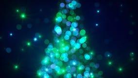 Luzes da árvore de Natal fora de foco ilustração stock