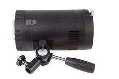 Luzes da câmera em um fundo branco Foto de Stock