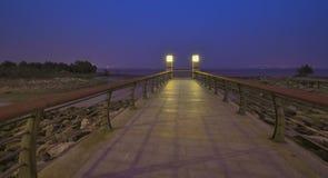 Luzes da cabeça de ponte Fotografia de Stock Royalty Free