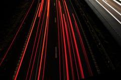 Luzes da cauda Fotografia de Stock