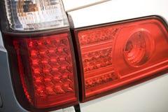 Luzes da cauda do carro foto de stock royalty free