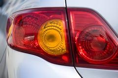 Luzes da cauda do carro fotos de stock royalty free